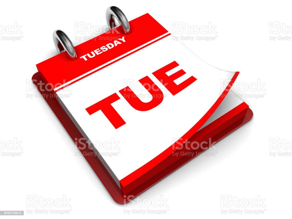 tuesday calendar stock photo