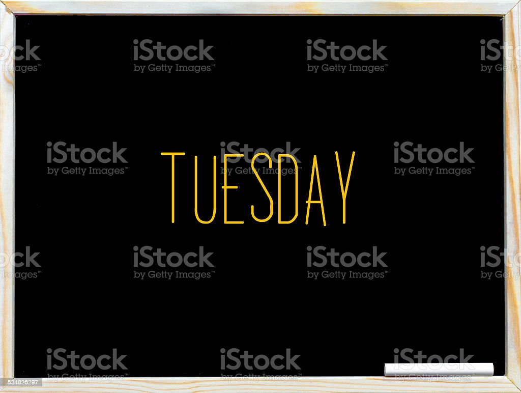 Tuesday stock photo