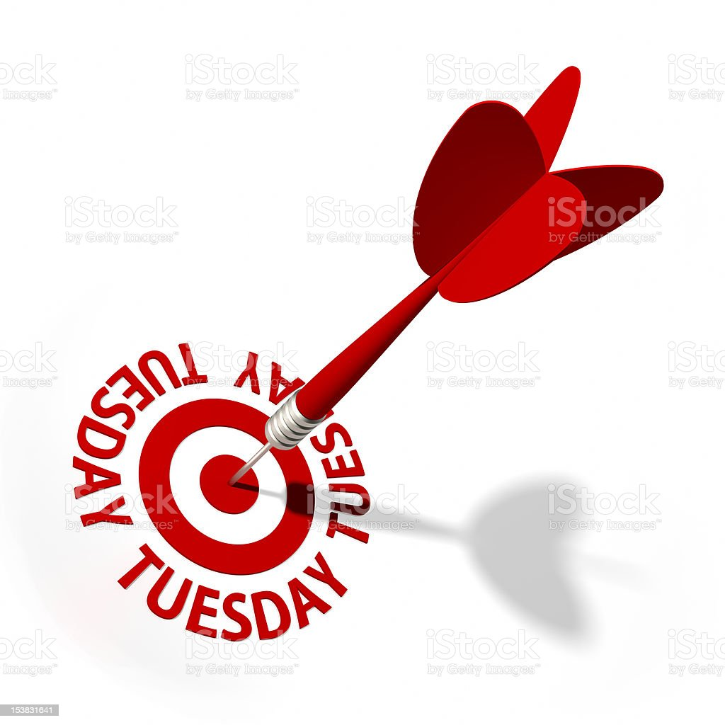 Tuesday Target royalty-free stock photo