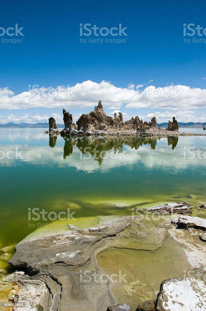 Tufa columns at Mono Lake, California, western USA. stock photo