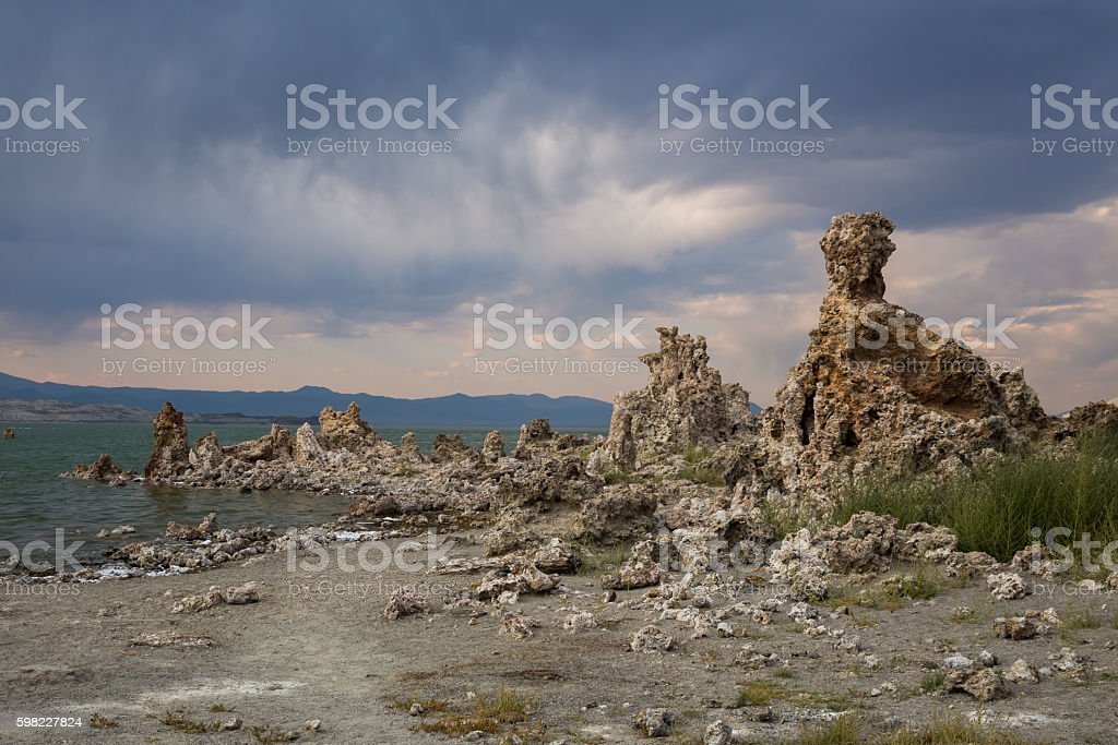 Tufa towers at Mono Lake foto royalty-free