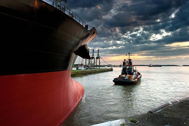 Tug boat stock photo