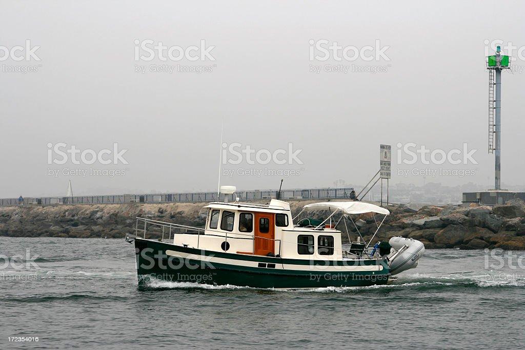 Tug en bote foto de stock libre de derechos
