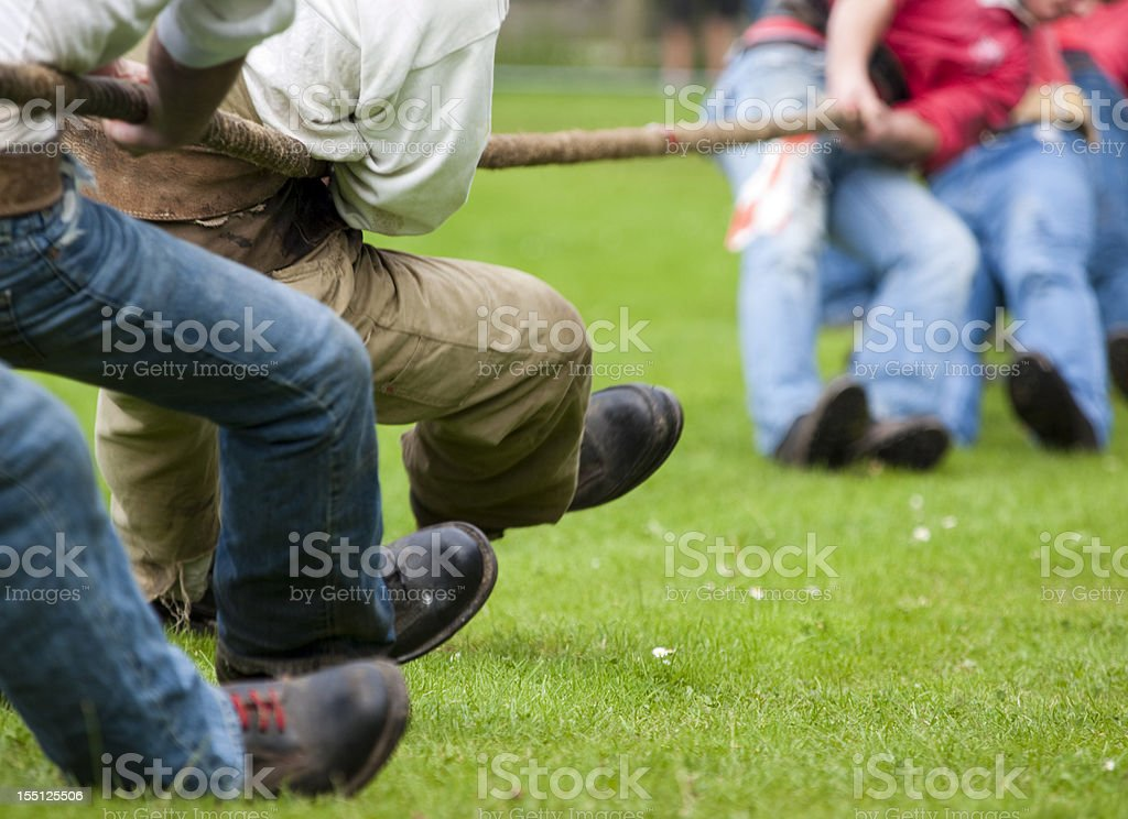 Tug of War Contest royalty-free stock photo