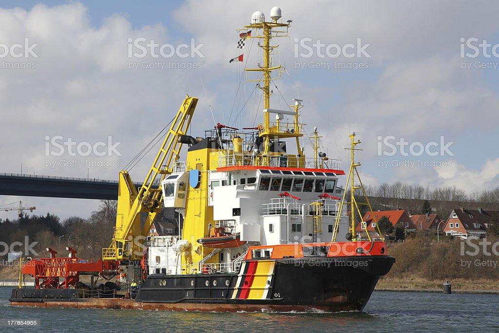 tugboat and coast guard stock photo