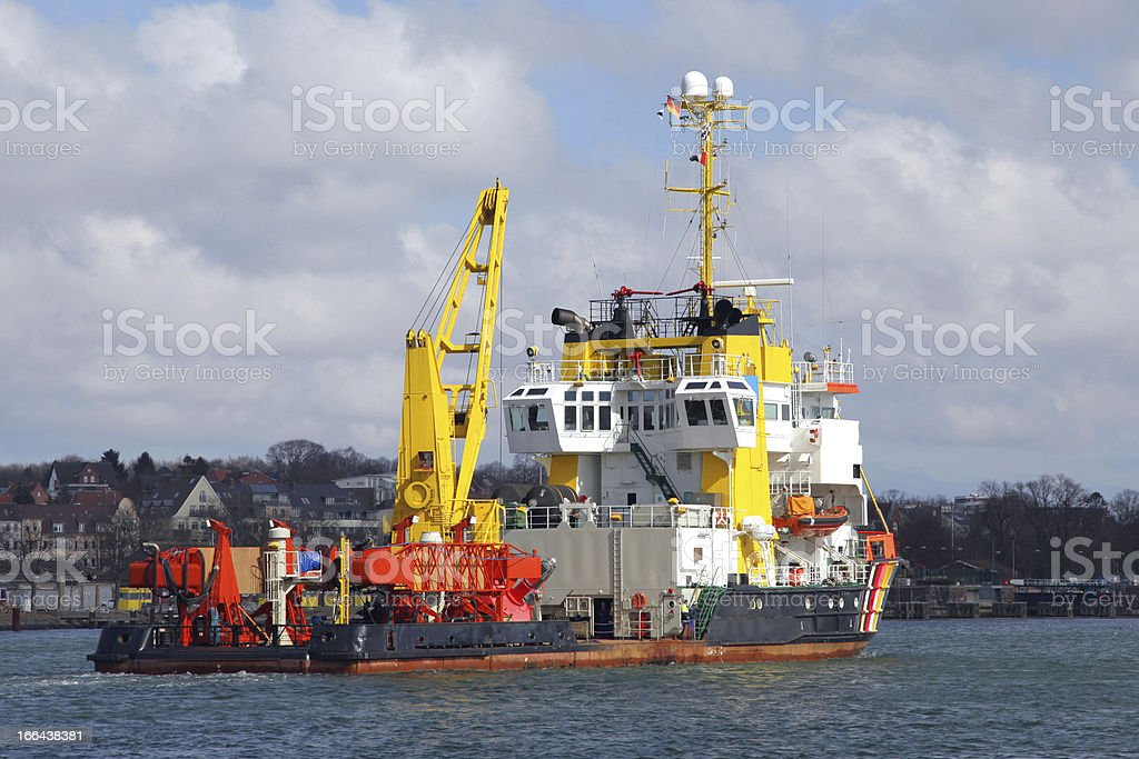 tugboat and fireboat royalty-free stock photo