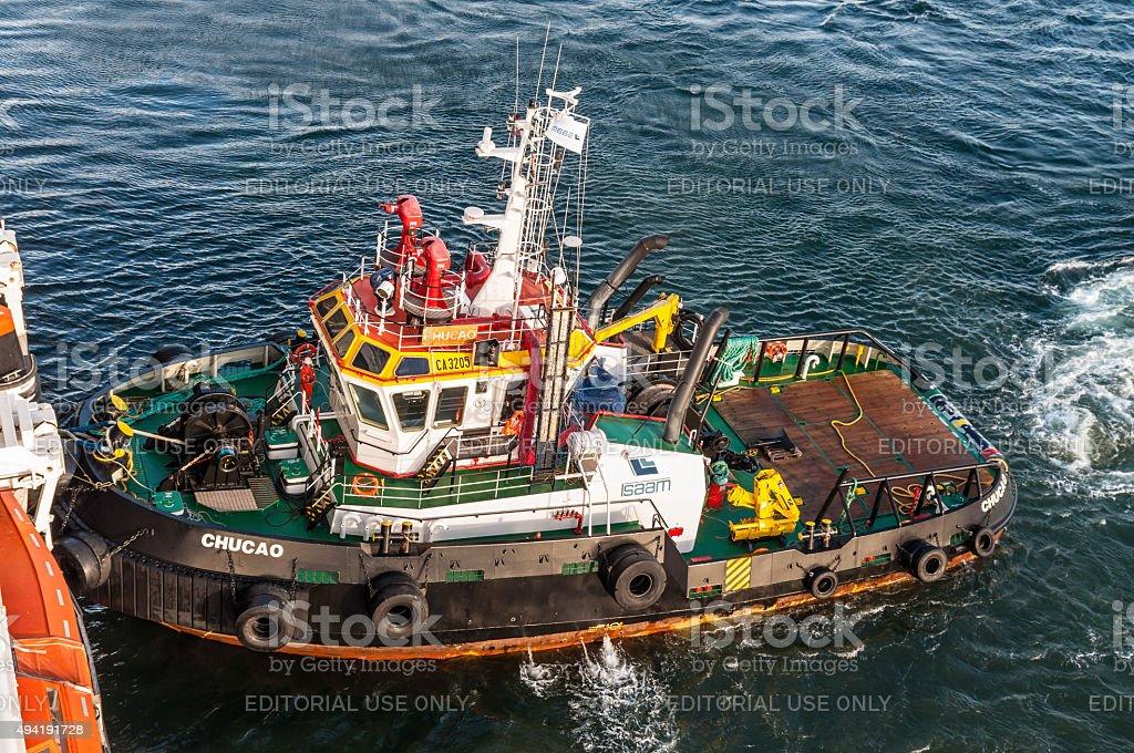 Tugboat Chucao stock photo