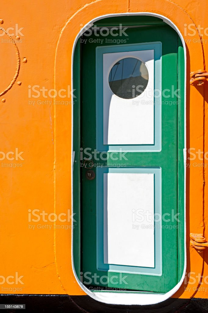 Tugboat Door royalty-free stock photo
