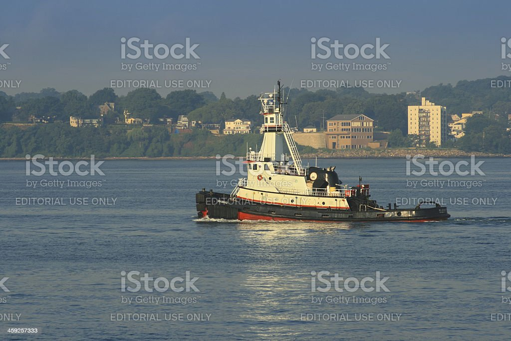 Tugboat sailing in the New York Harbor. royalty-free stock photo