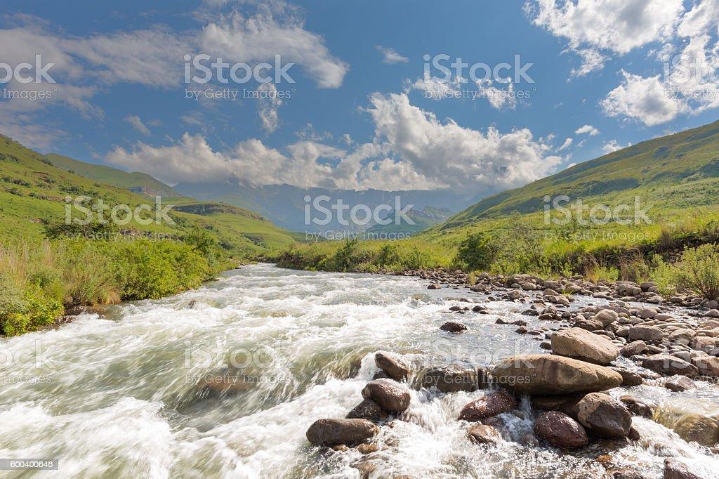 Tugela River and Amphitheatre stock photo