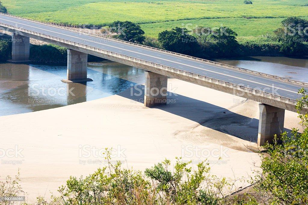 Tugela River in KwaZulu-Natal, South Africa stock photo
