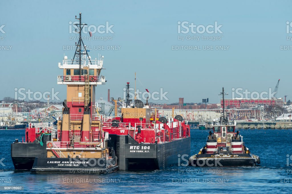 Tugs Laurie Ann Reinauer and Buckley McAllister stock photo