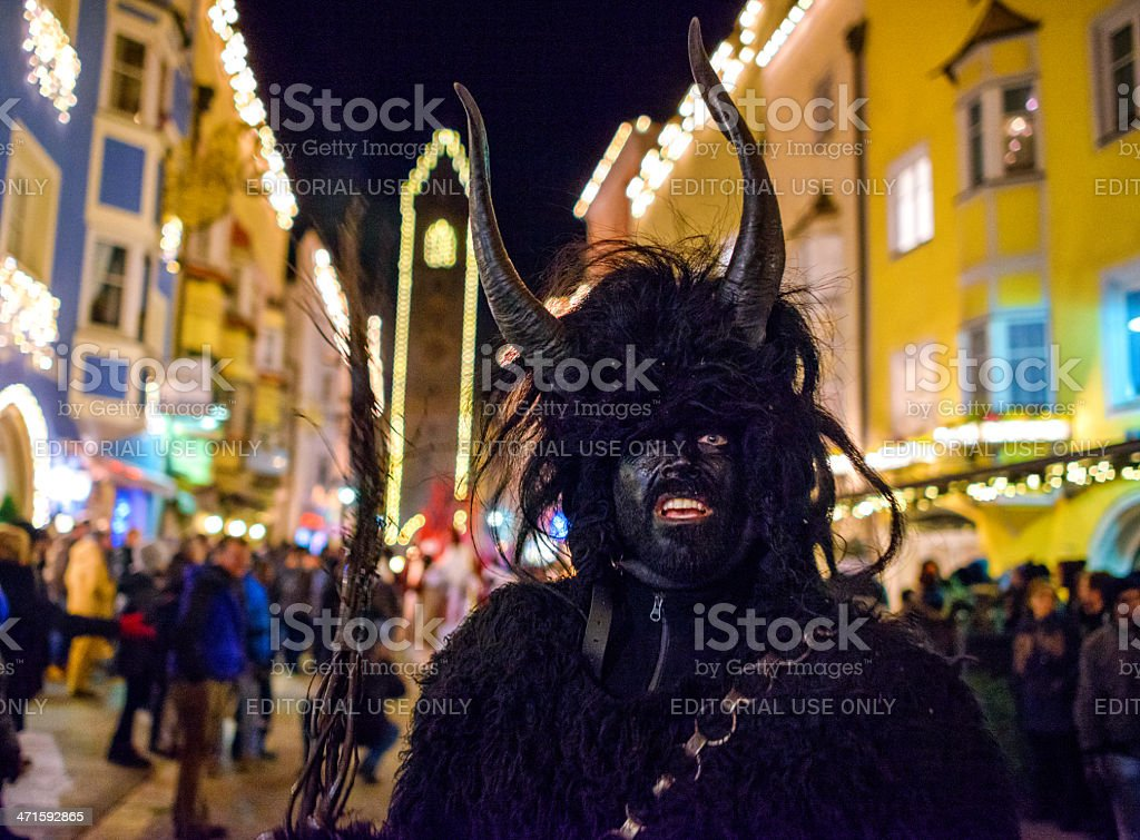 Tuifltog (Krampus Night) in Sterzing/Vipiteno royalty-free stock photo