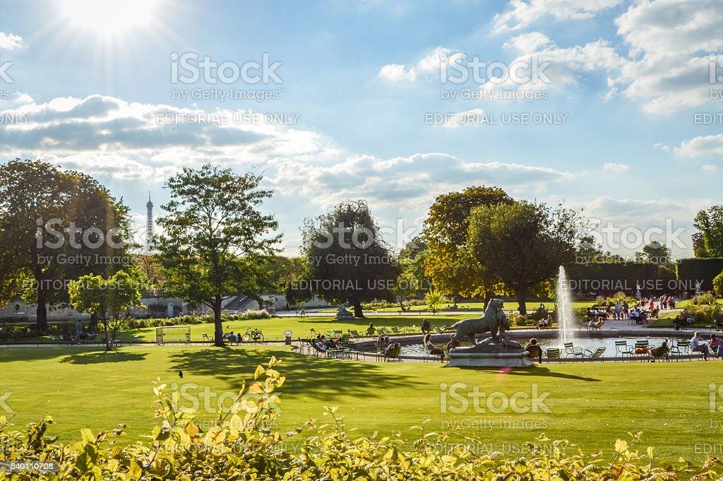 Tuileries Garden in Paris - France stock photo