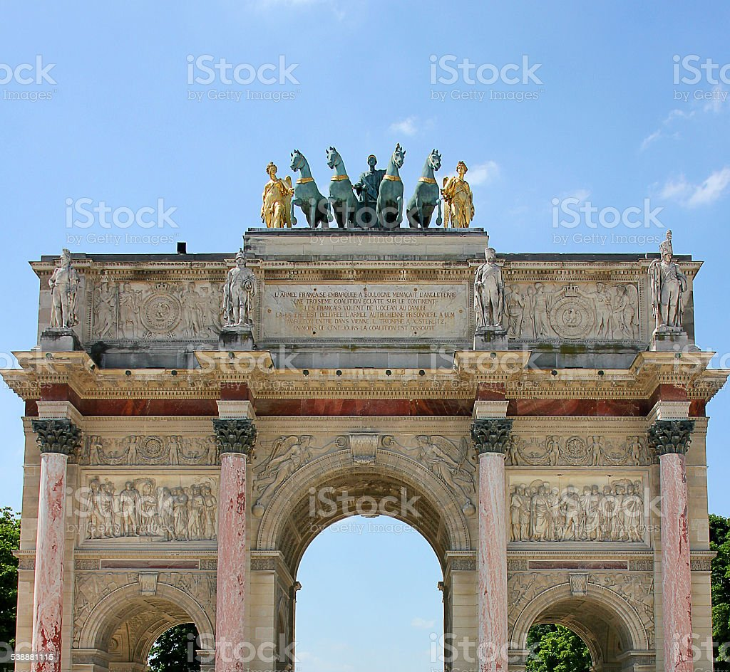 Tuileries gardens entrance stock photo