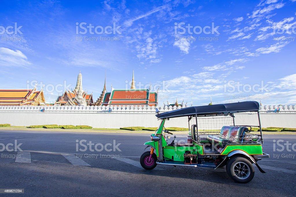 Tuk tuk parking for waiting a passenger, Bangkok Thailand stock photo