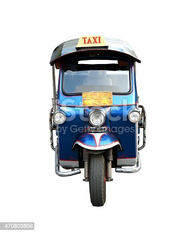 Tuk Tuk taxi car in thailand (front view)