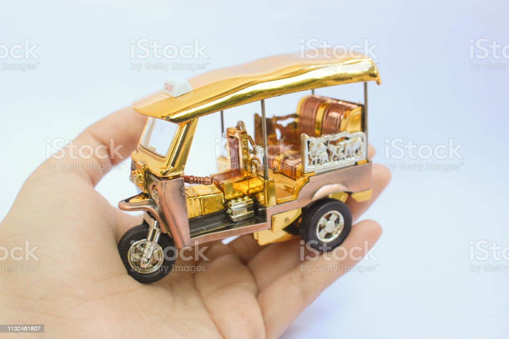 Tuk-tuk 3 wheel TAXI Bangkok Thailand Best Model Boy Toy Car Vehicles Souvenir
