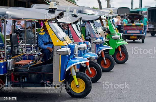 Tuk Tuks In Bangkok Stock Photo - Download Image Now