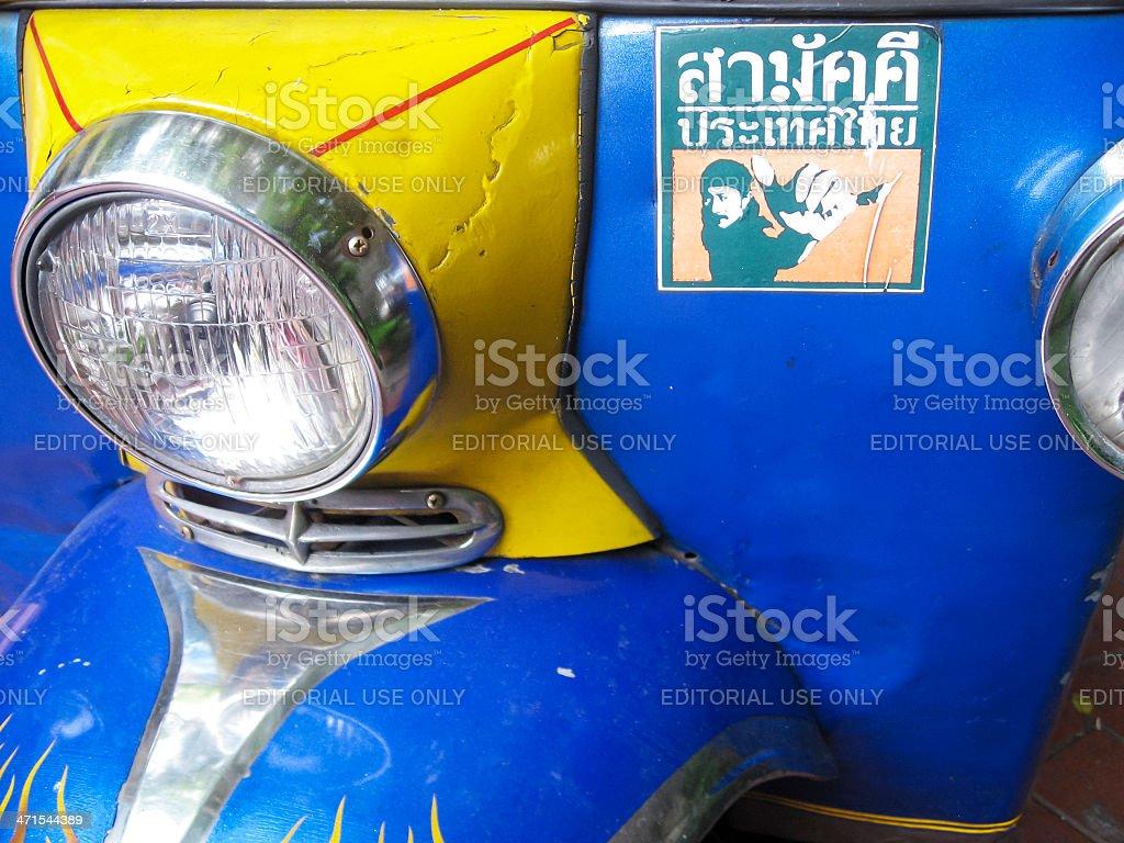 tuktuk detail bangkok thailand royalty-free stock photo