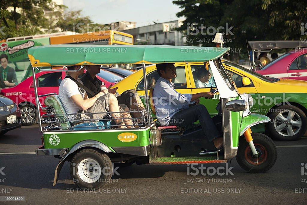 Tuk-Tuk in Bangkok Traffic royalty-free stock photo