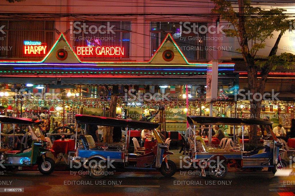 TukTuk in Patpong, Bangkok Thailand stock photo