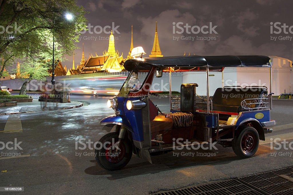 Tuk-Tuk near Grand Palace, Bangkok Thailand royalty-free stock photo