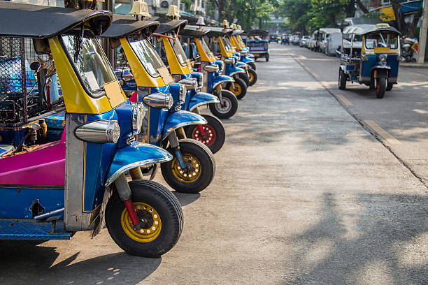 tuk-tuk taxi tuk-tuk taxi three wheel motorcycle stock pictures, royalty-free photos & images
