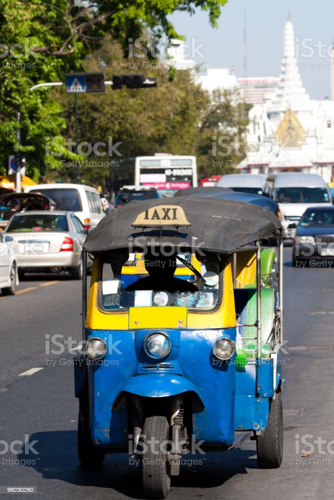 Tuktuk, traditional taxi in Bangkok, Thailand royalty-free stock photo