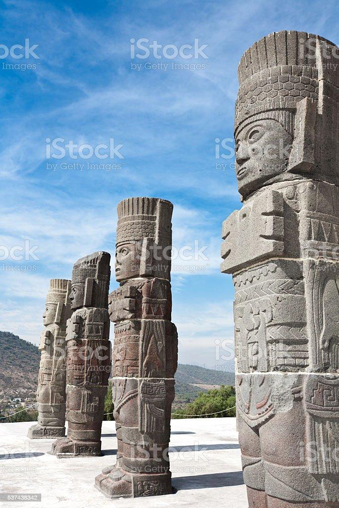Tula - ancient capital of Toltecs, Mexico stock photo