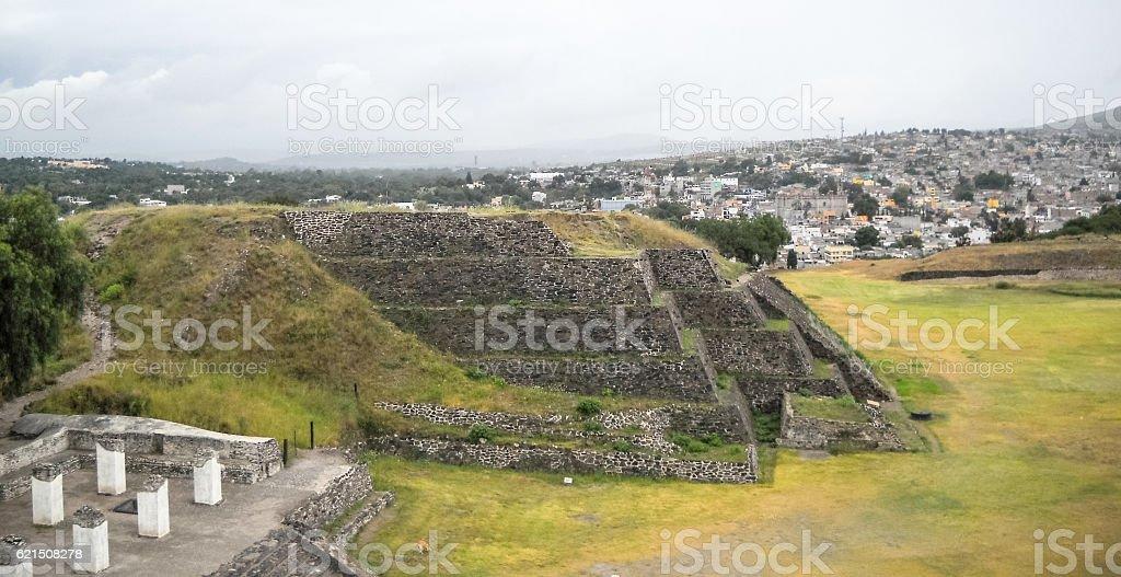 Tula de Allende Atlantis piramidi del Messico foto stock royalty-free