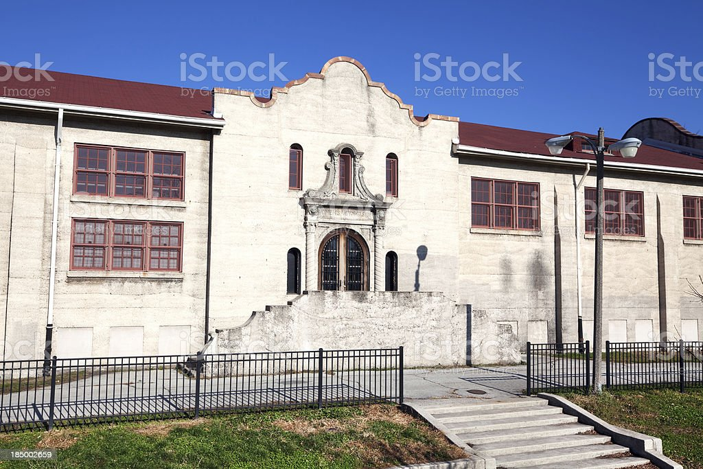 Tuley Park Spanish Revival Fieldhouse, Chicago royalty-free stock photo
