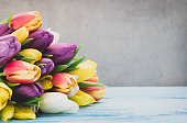 Tulip Bouquet with copy space