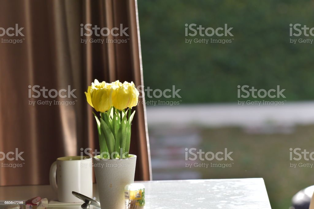 Tulip Flower on the table 免版稅 stock photo
