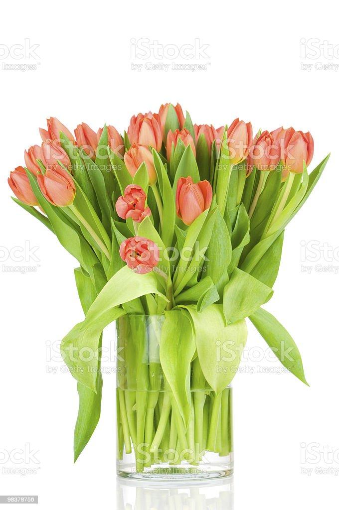 Tulipani in vaso foto stock royalty-free