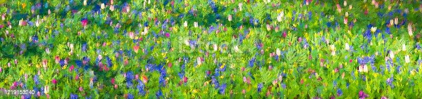 istock Tulips in Vondelpark 1219153240