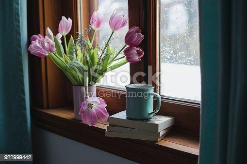 flowers, window sill, decoration, home interior