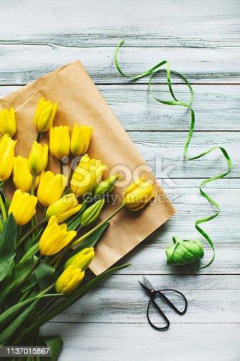921112244 istock photo Tulips on the table 1137015867