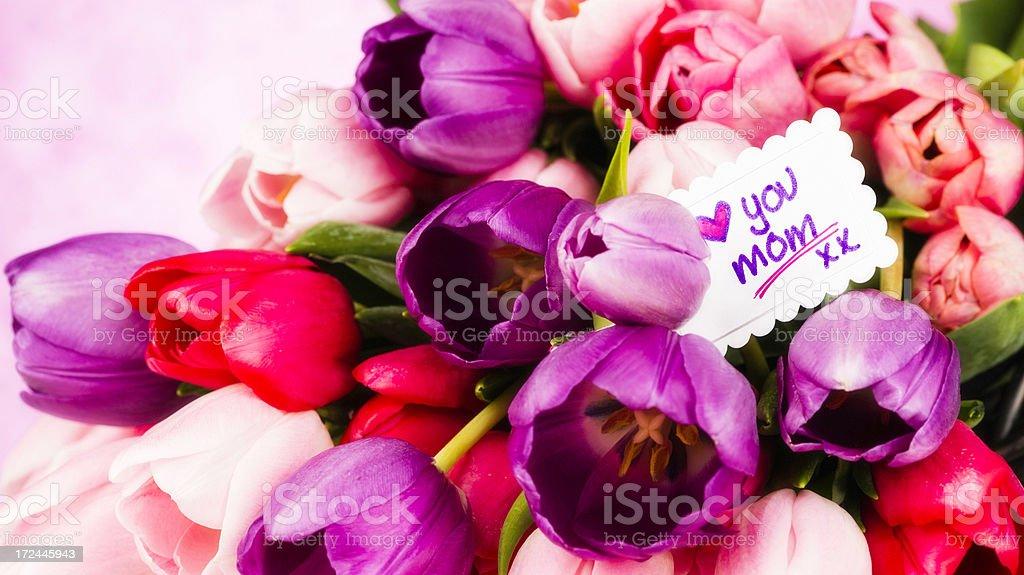Photo Libre De Droit De Tulipes Avec Massage Pour Maman