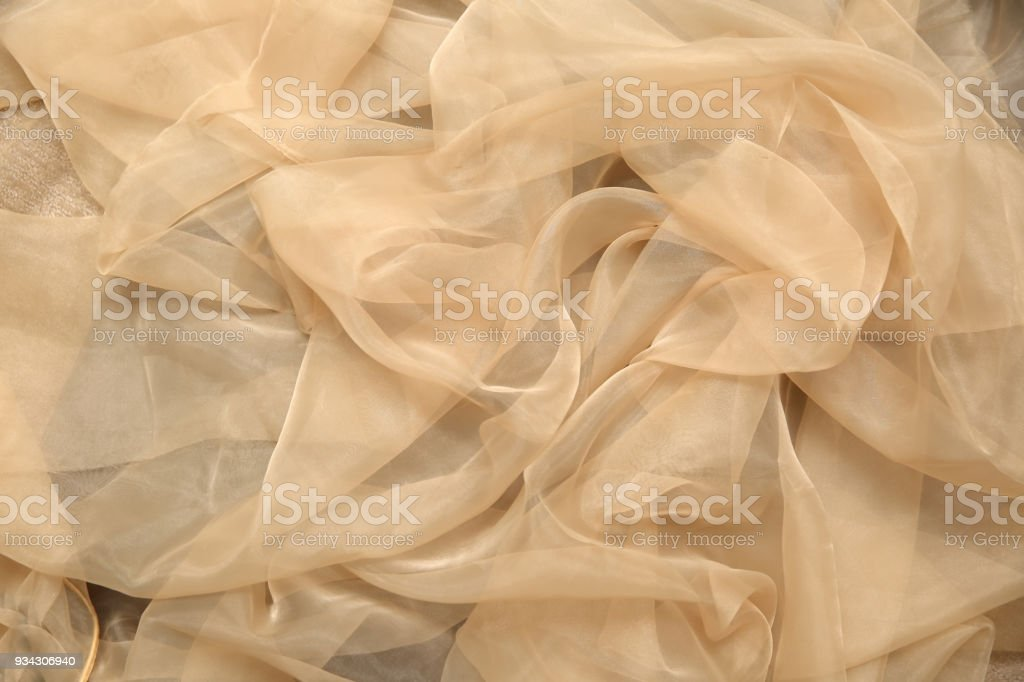 Tulle is a delicate tannin that is used for dresses or other creations adds a lot of space and good style. stock photo