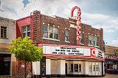 istock Tulsa OK USA - Retro Circle Cinema - Oldest movie theatre opened 1928 only nonprofit cinema in Tulsa near Route 66 with neon sign 1286184540