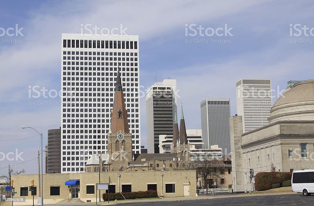 Tulsa, Oklahoma - Downtown stock photo