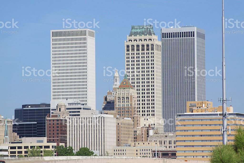 Tulsa, Oklahoma Skyline stock photo