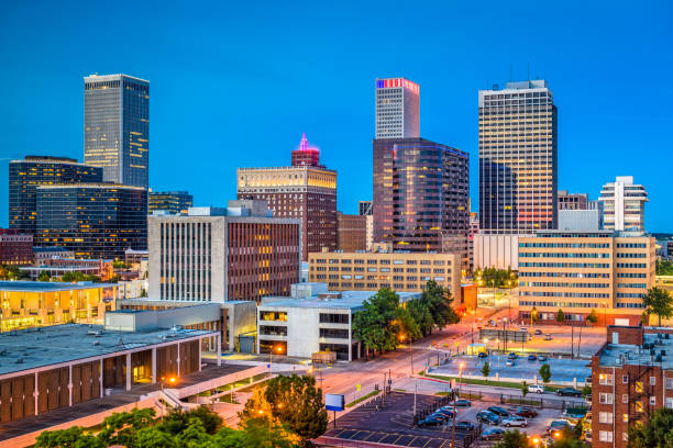 Tulsa, Oklahoma, USA stock photo