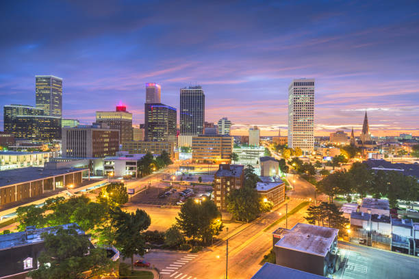 Tulsa, Oklahoma, USA Skyline stock photo