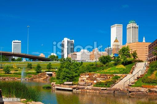 istock Tulsa skyline and park 535481818
