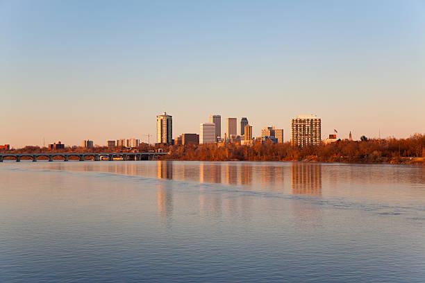 Tulsa Skyline at Sunset stock photo