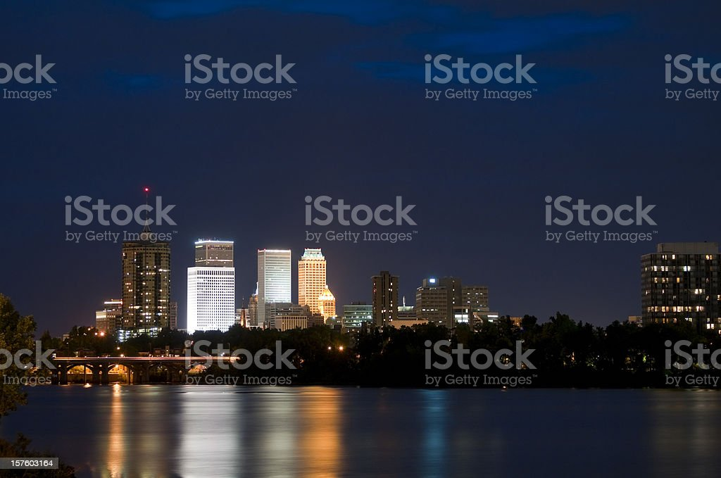 Tulsa Skyline at Twilight royalty-free stock photo