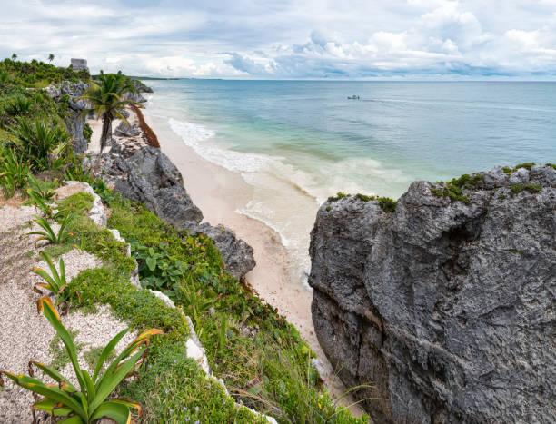 Tulum archeological site, Yucatan - Mexico stock photo