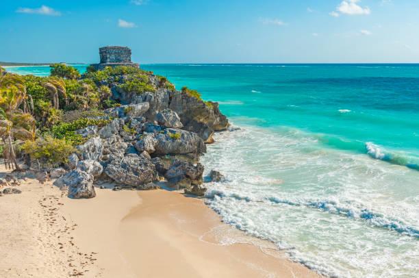 Tulum Beach, Mexico stock photo